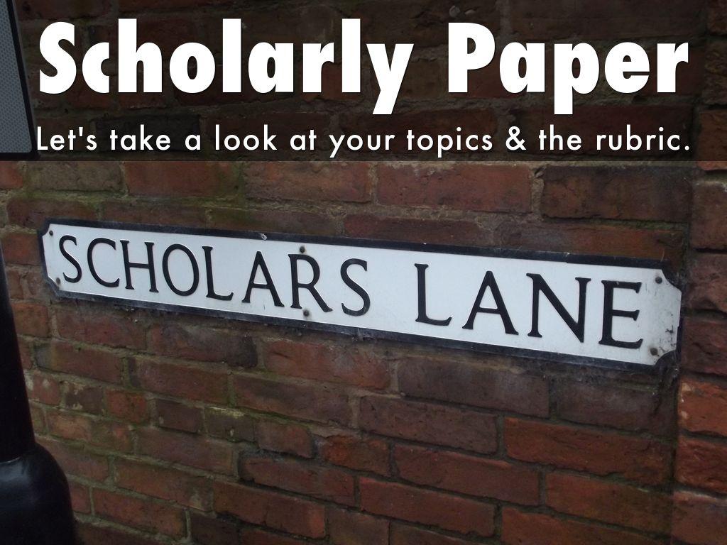 scholar paper