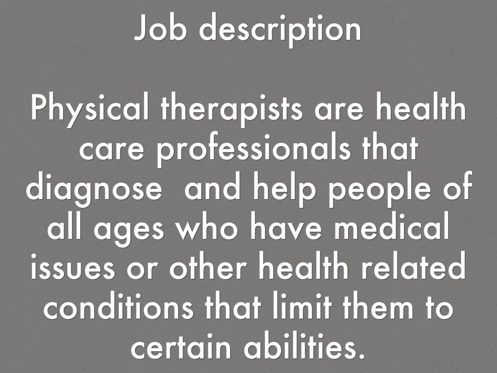 Physical therapist by 19sabarlament – Physical Therapy Job Description