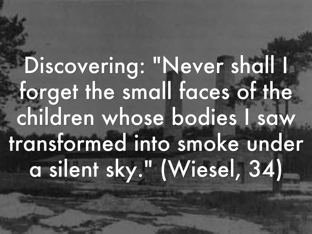 an overview of the never shall i forget that night Never shall i forget that night from elie wiesel, night (new york: bantam, 1982, p32) elie wiesel elie wiesel commemorating his father.