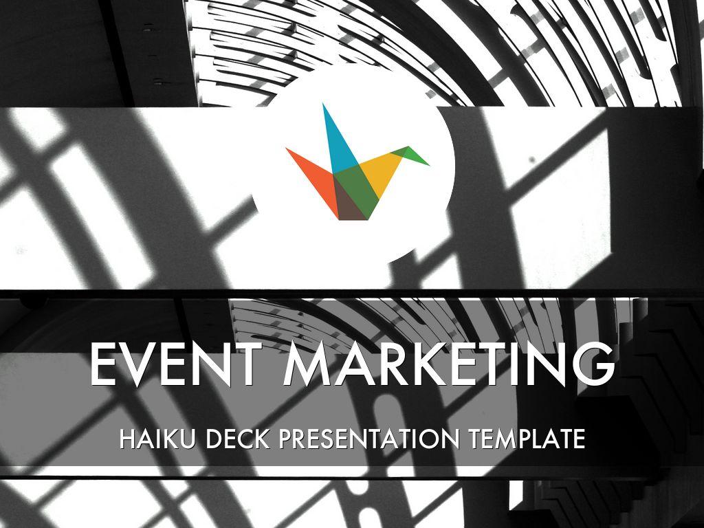 event marketing presentation template by reusable. Black Bedroom Furniture Sets. Home Design Ideas