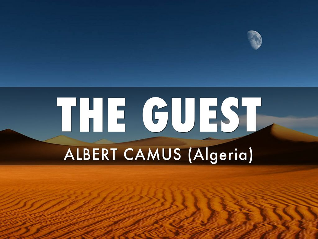 setting of the guest by albert camus