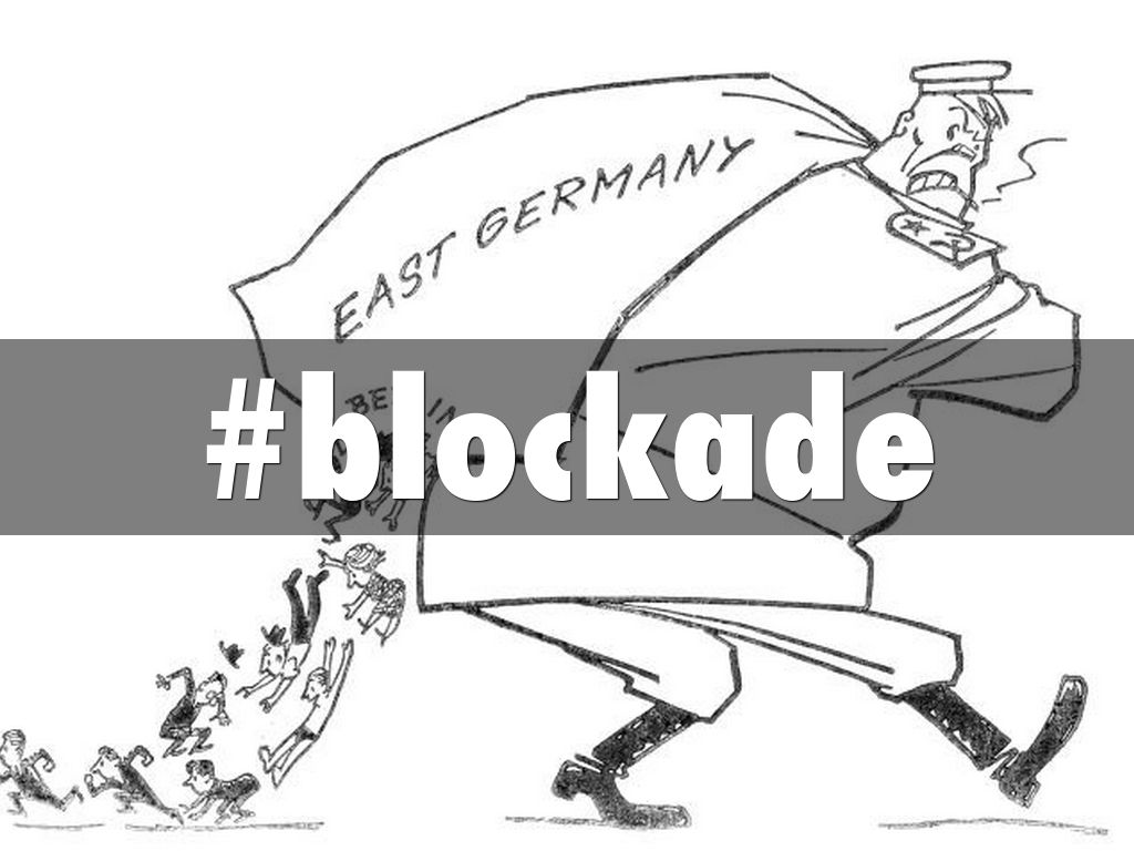 Iron curtain cartoon -  Blockade