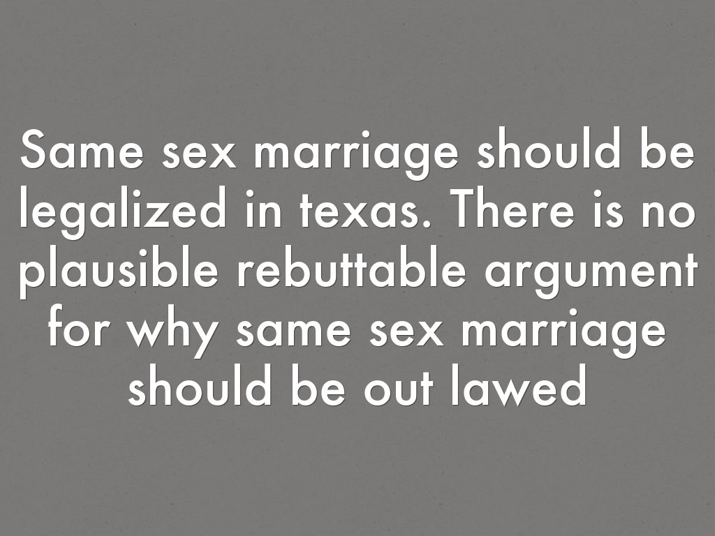 essay on why gay marriage should be legalized Gay marriage is a very big issue in this country some people believe that same-sex couples should h.