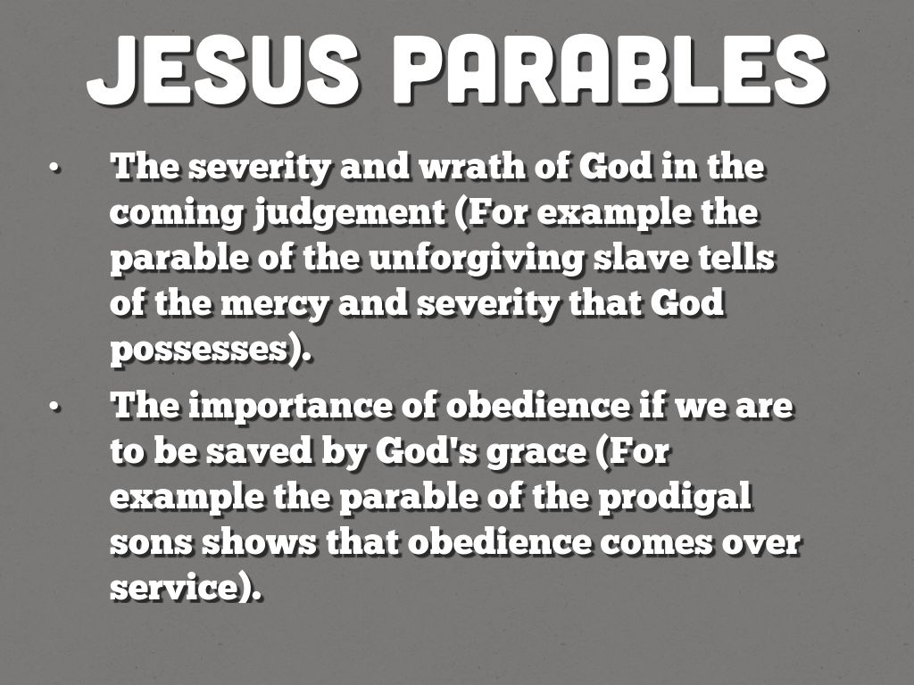 Parables By Sarahbevil9915