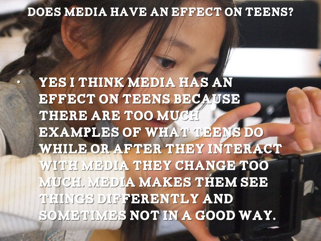 how does media affect teenagers Typically, social media's effect on tweens and teens is considered to be something that only girls must deal with this idea could not be further from the truth in fact, boys tend to have just as much trouble when it comes to social media as girls do.