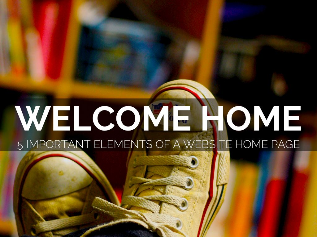 Anatomy Of A Website Home Page
