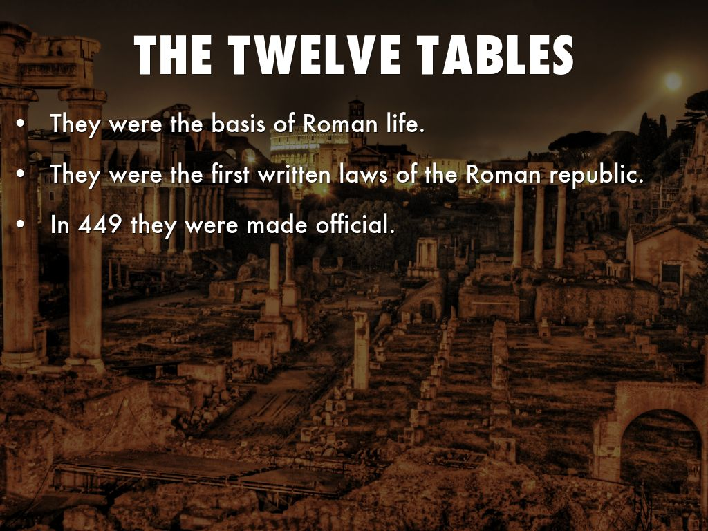 when were the twelve tables written