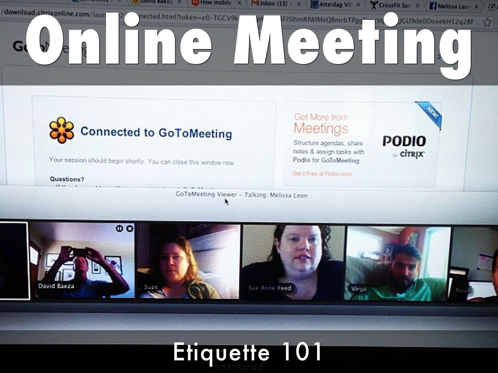 ONLINE MEETING TIPS