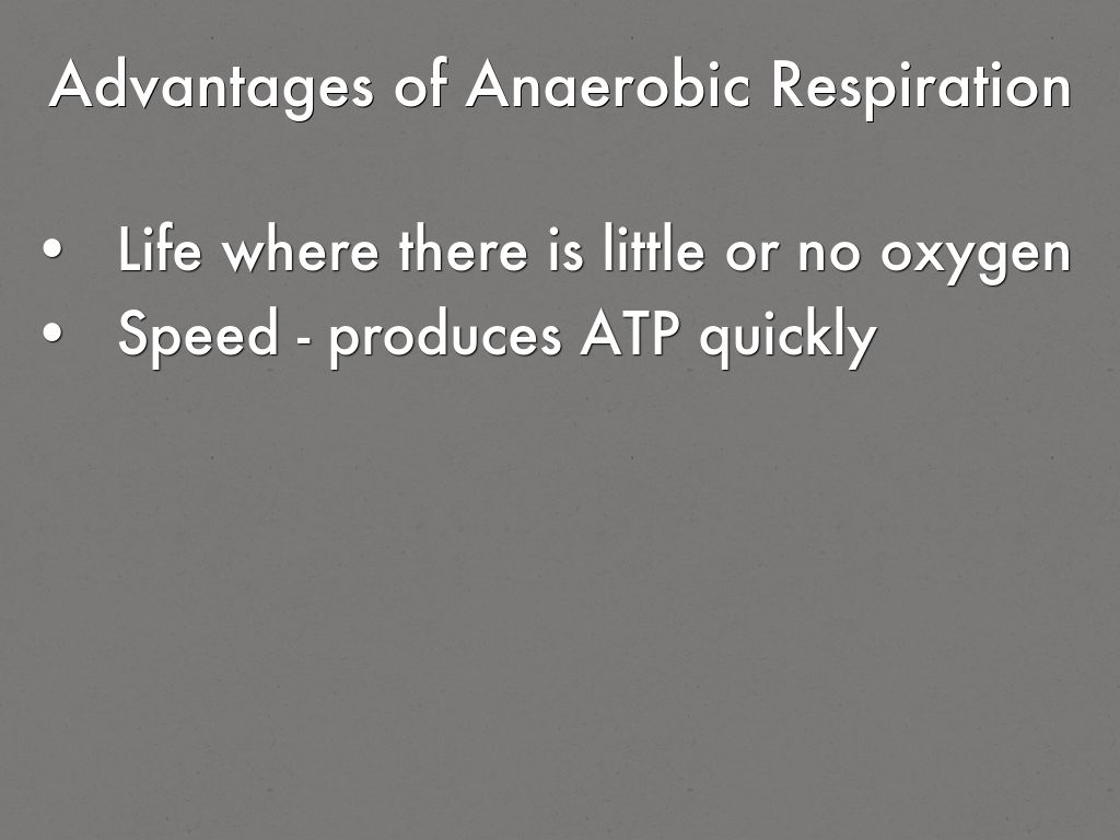 advantages of anaerobic respiration