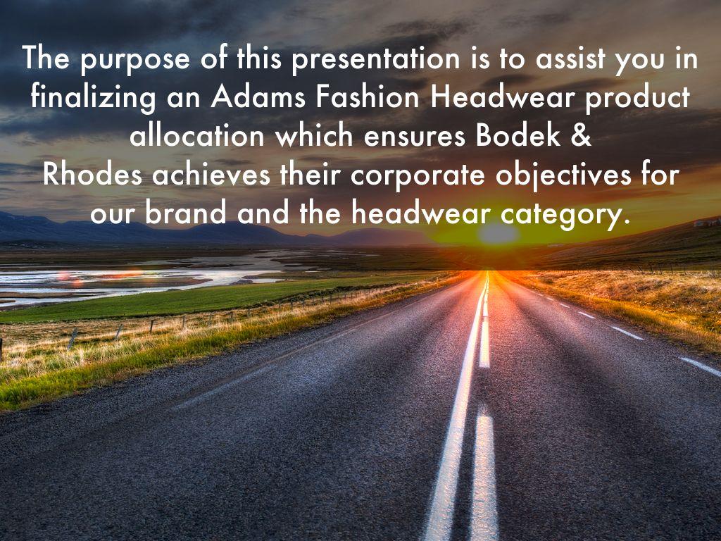 Bodek & Rhodes Product Presentation by mark