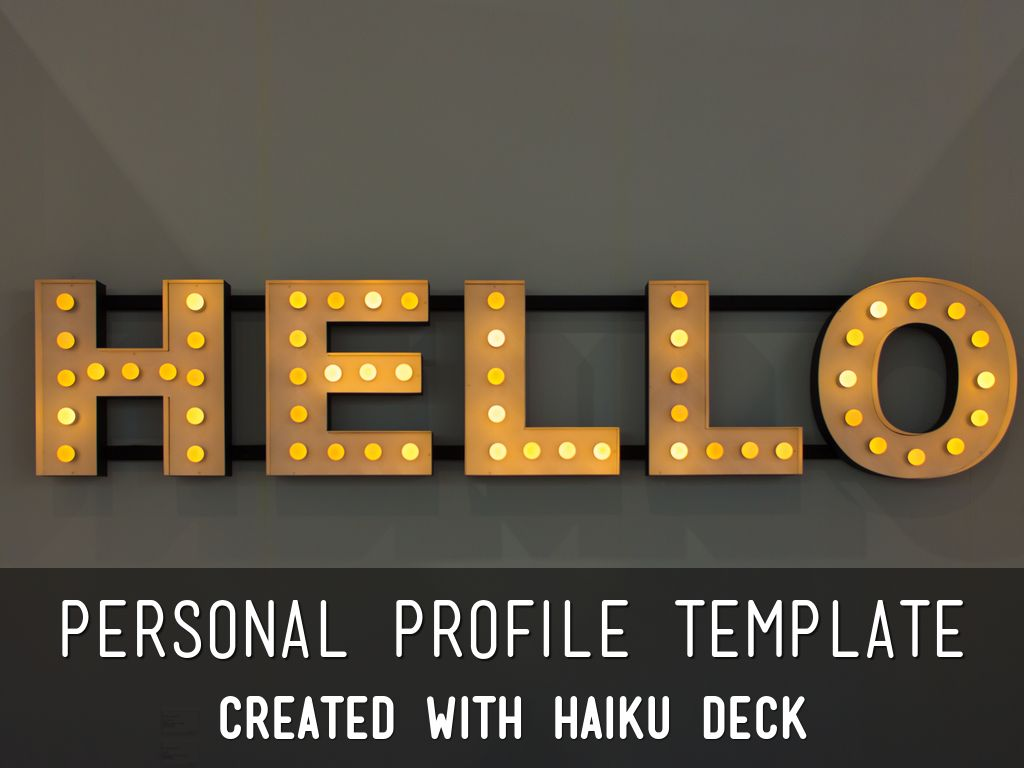 Copia di Personal Profile Template