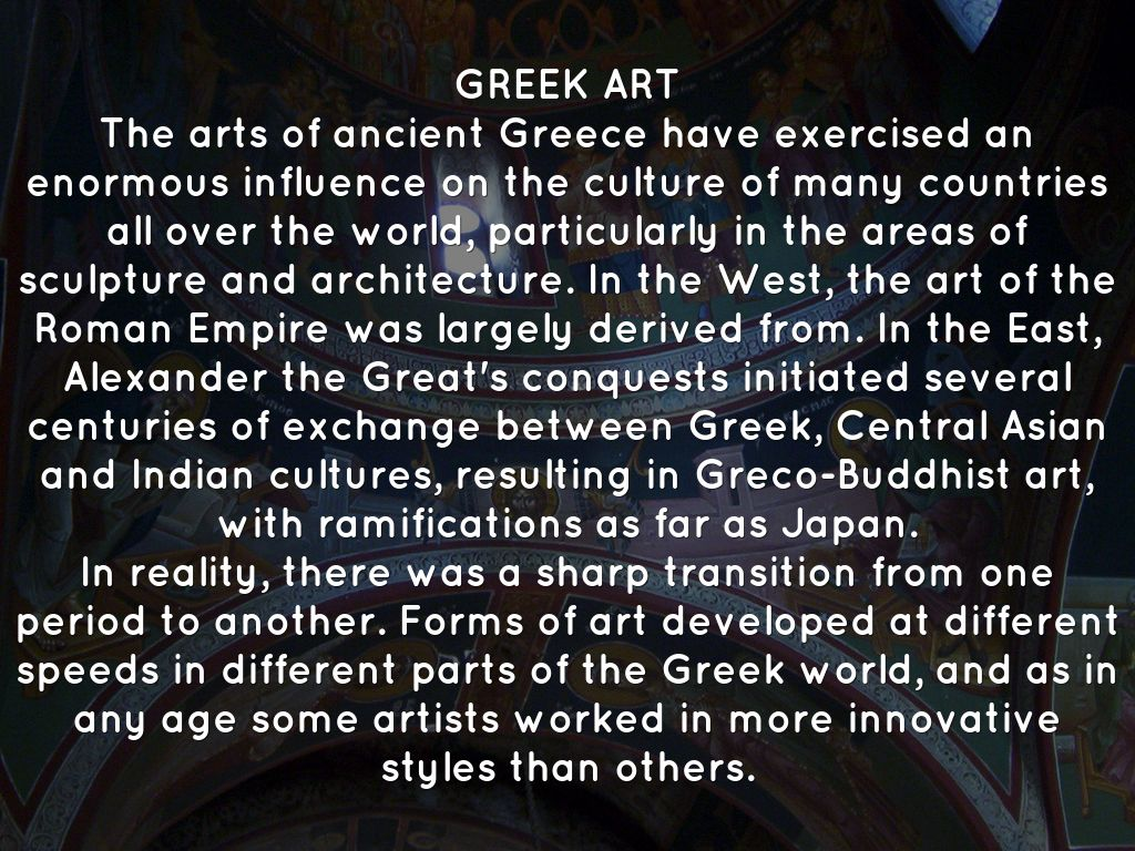 influence of greek art essay