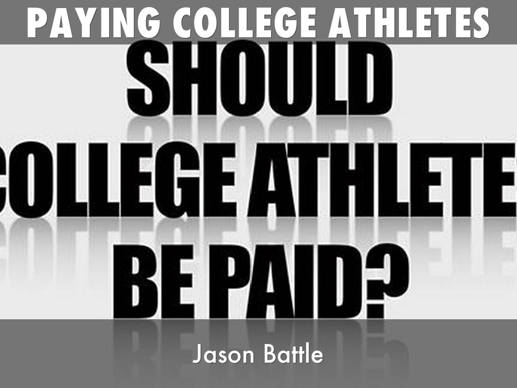 "the shame of paying college athletes Logical fallacy and the push to pay college athletes  story titled ""the shame of college sports,"" a title  paying its athletes."
