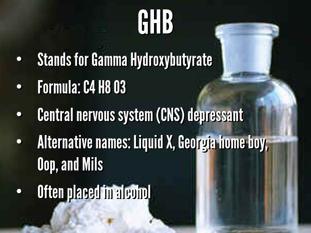 a look at the depressant gamma hydroxybutyrate ghb