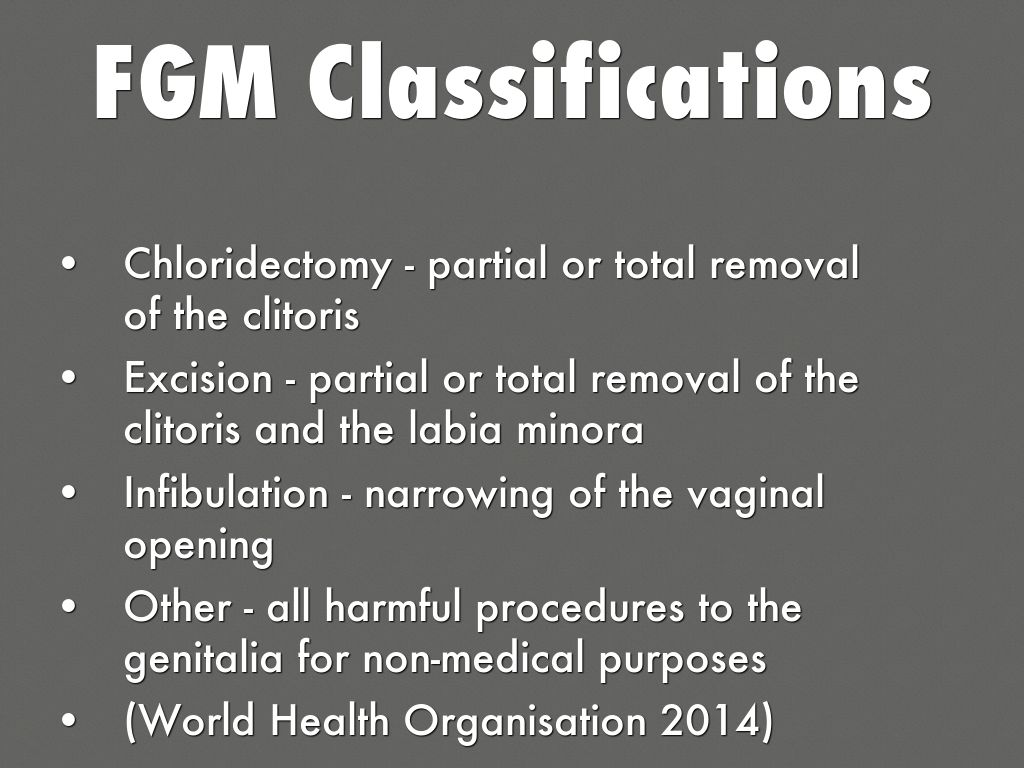 """female genital mutilation is not wrong essay Free essay: female genital mutilation, shortened to fgm in most medical texts, is """"collective name given to several different traditional practices that."""