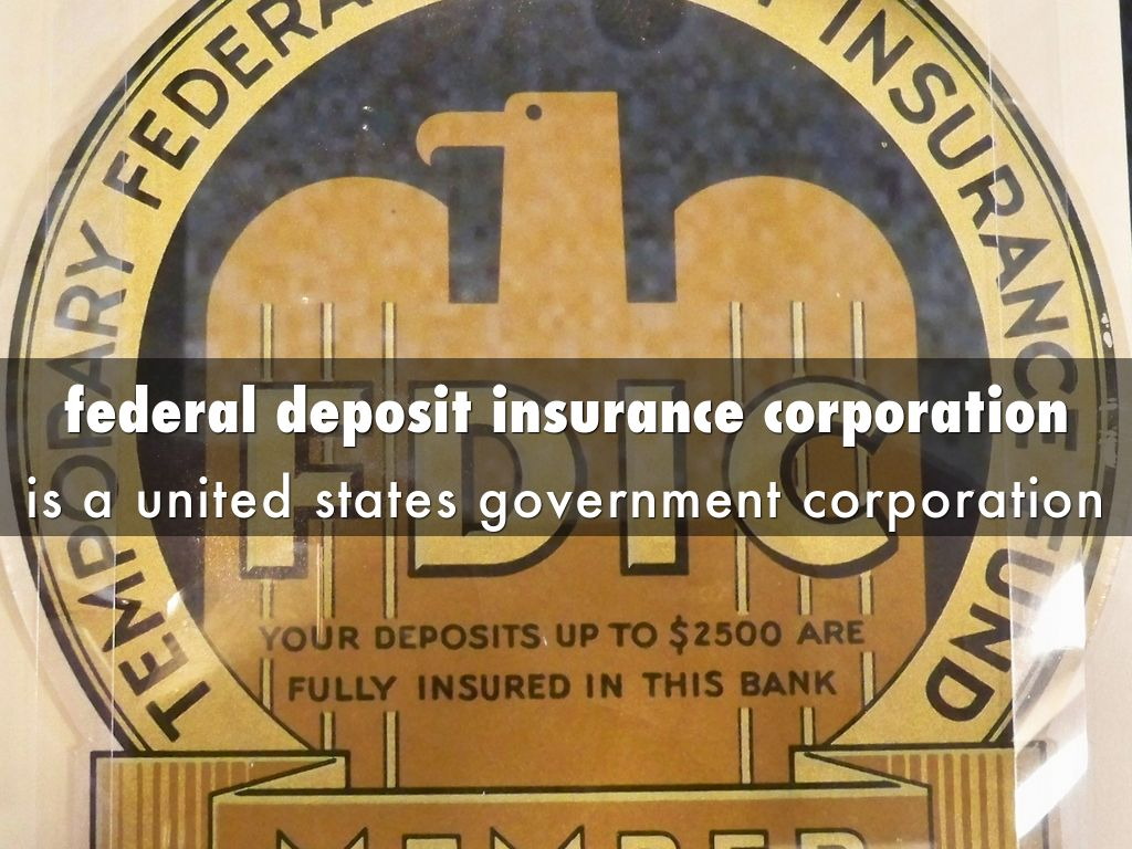 federal deposit insurance corporation essay