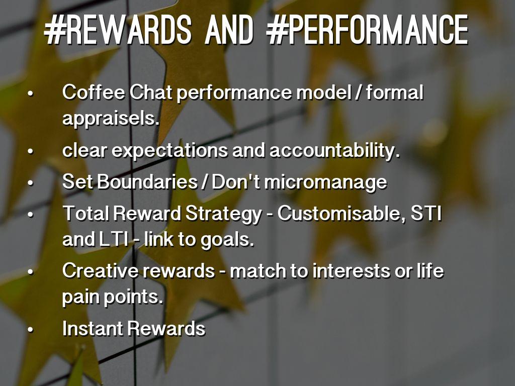 rewards and performances
