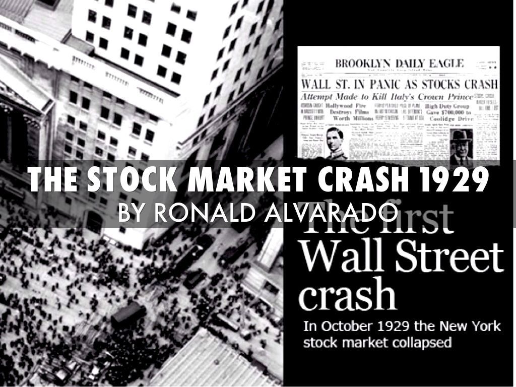 1929 stock market crash Stock market crash of 1929, also called the great crash, a sharp decline in us stock market values in 1929 that contributed to the great depression of the 1930s the great depression lasted approximately 10 years and affected both industrialized and nonindustrialized countries in many parts of the world.