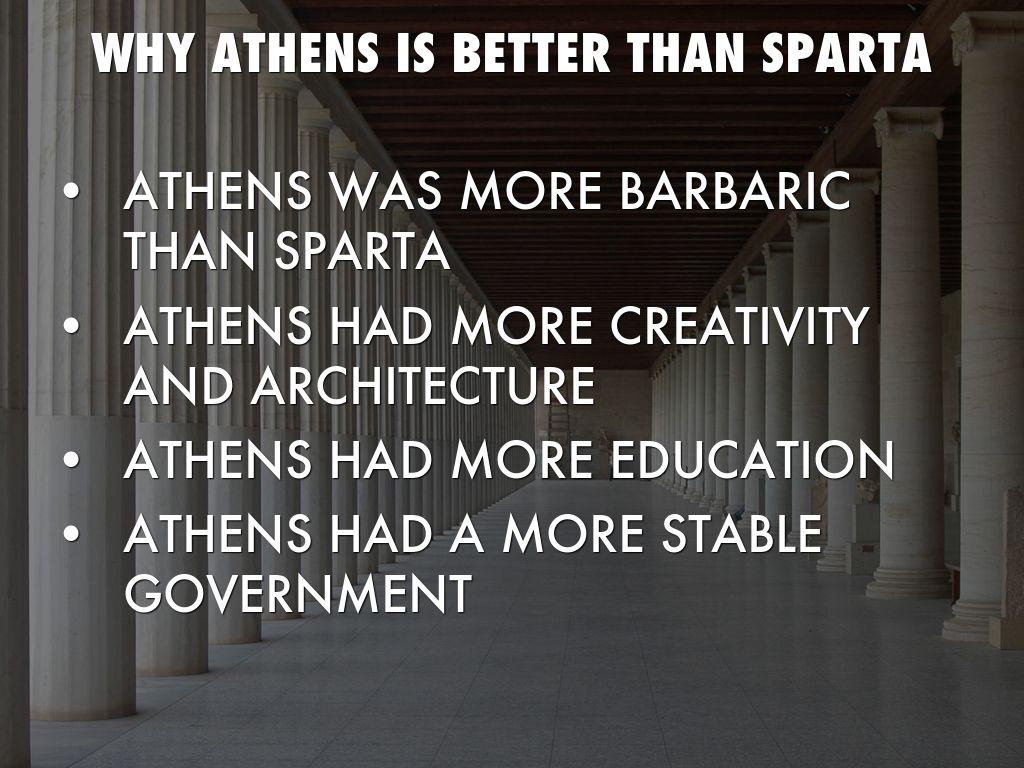 athenian military vs. spartan military