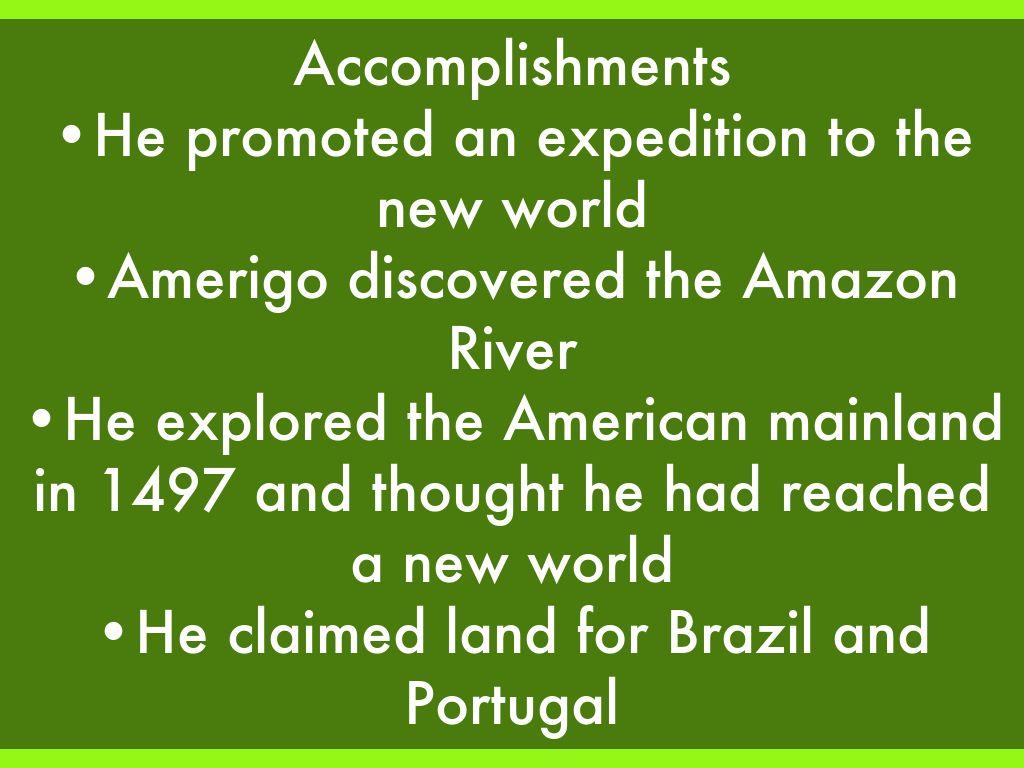amerigo vespucci accomplishments