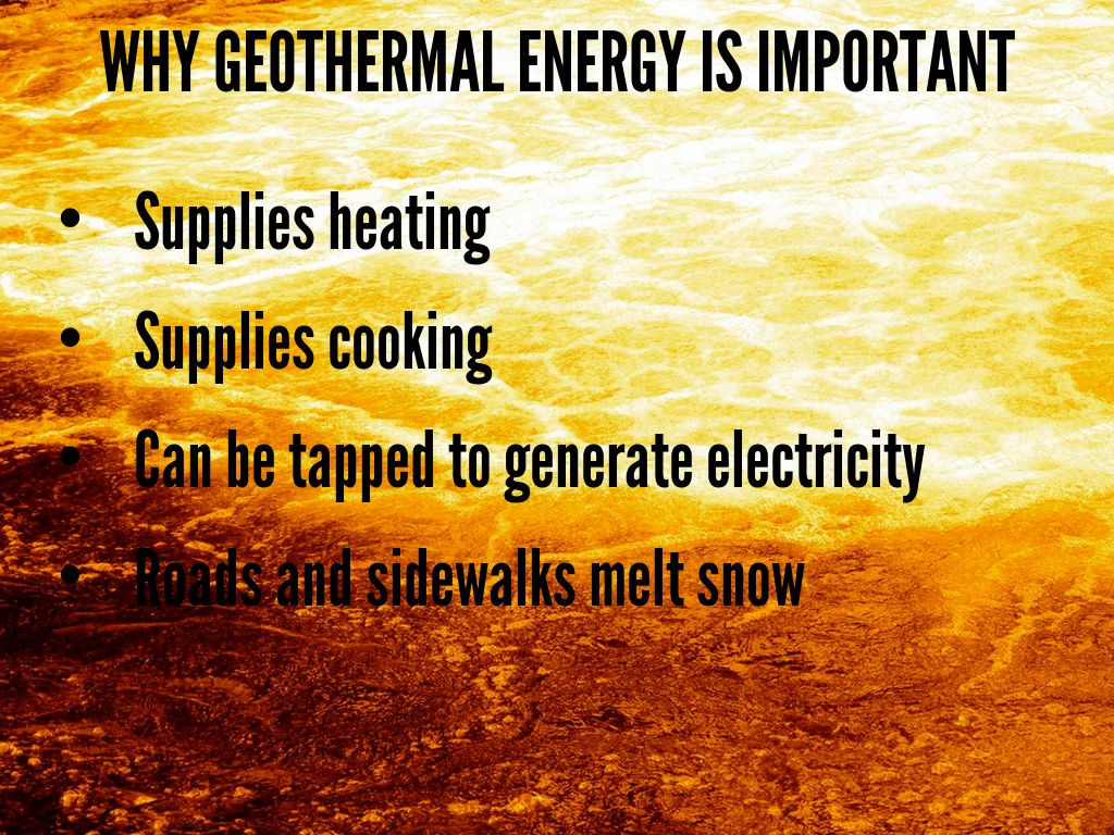 an introduction to the importance of geothermal electricity Geothermal electricity production basics geothermal power plants use steam produced from reservoirs of hot water found a few miles or more below the earth's surface to produce electricity.