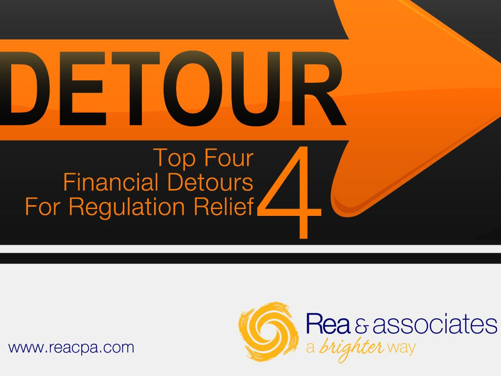 Take A Detour: Top 4 Detours For Financial Relief