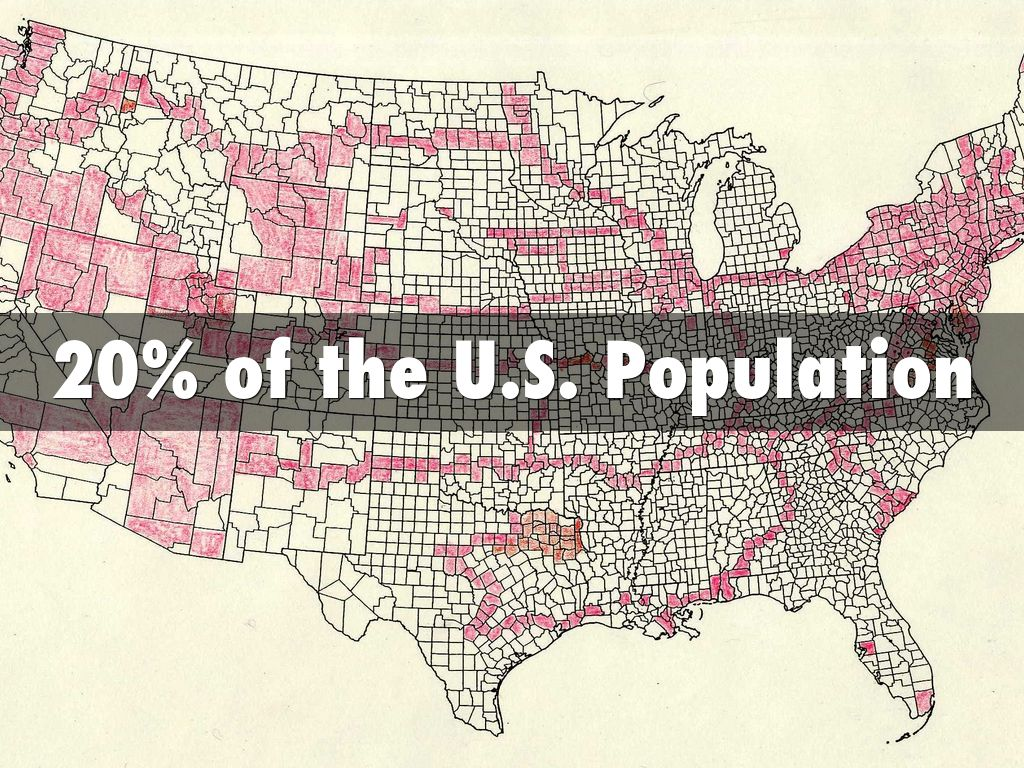 20 of the us population