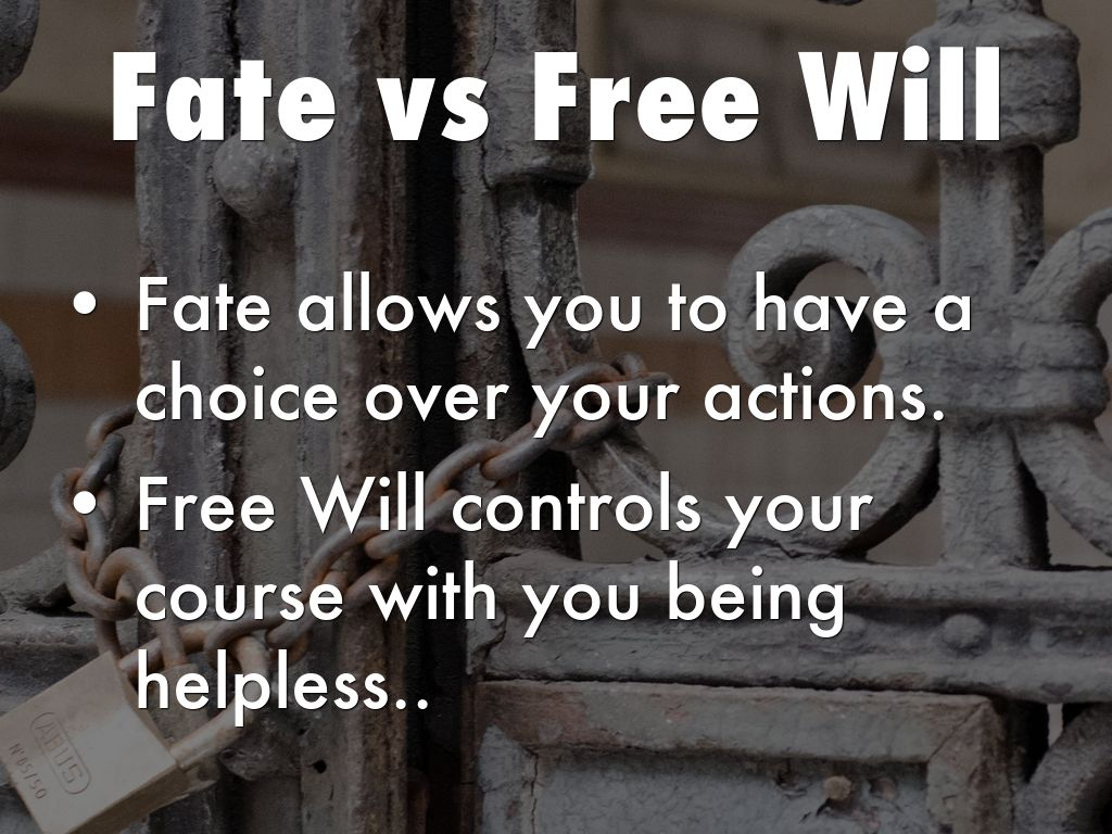 fate and free will macbeth