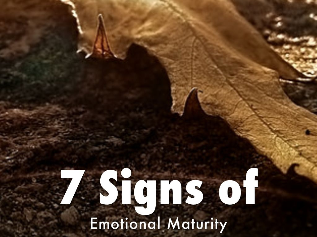 7 signs of emotional maturity according to Freud