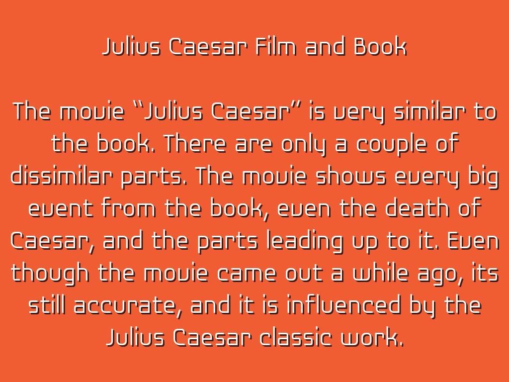 analysis of julius caesar s influence