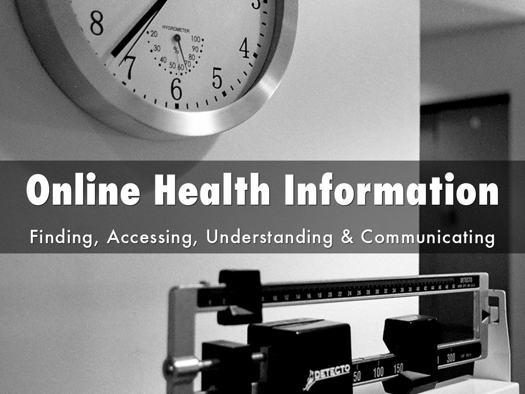 Copia de Online Health Information