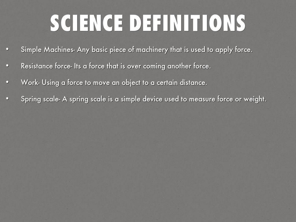science definition definitions simple resistance basic force haikudeck