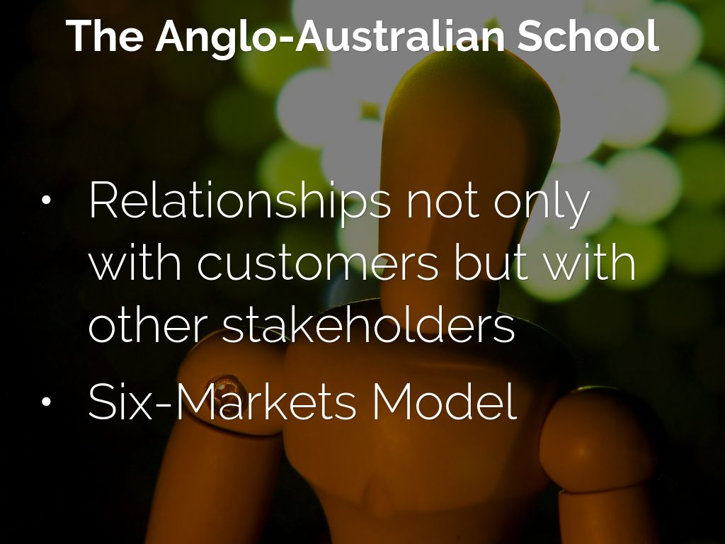 anglo australian school of relationship marketing and customer