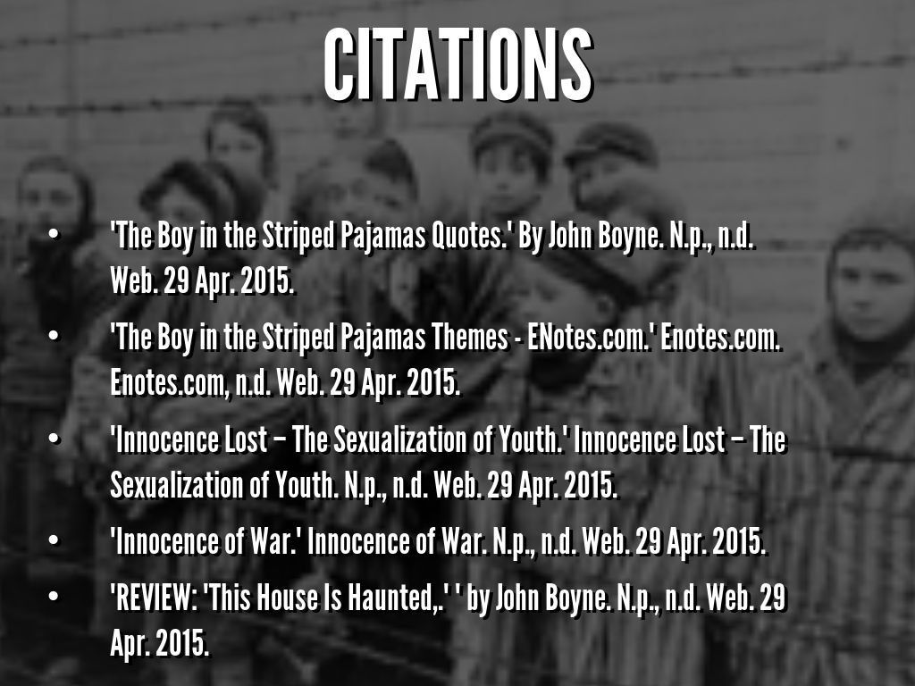 innocence in the boy in the striped pajamas by citations the boy in the striped pajamas