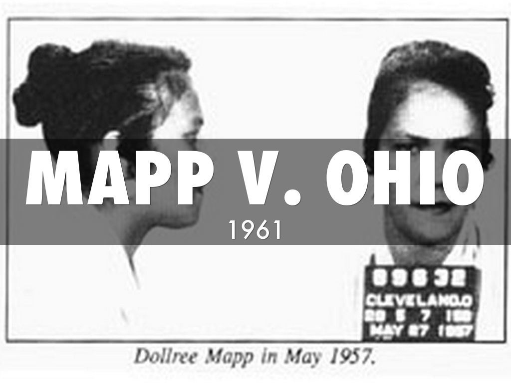 mapp vs ohio court case Professors carolyn long and renee hutchins talk about the 1961 supreme court case [mapp v.