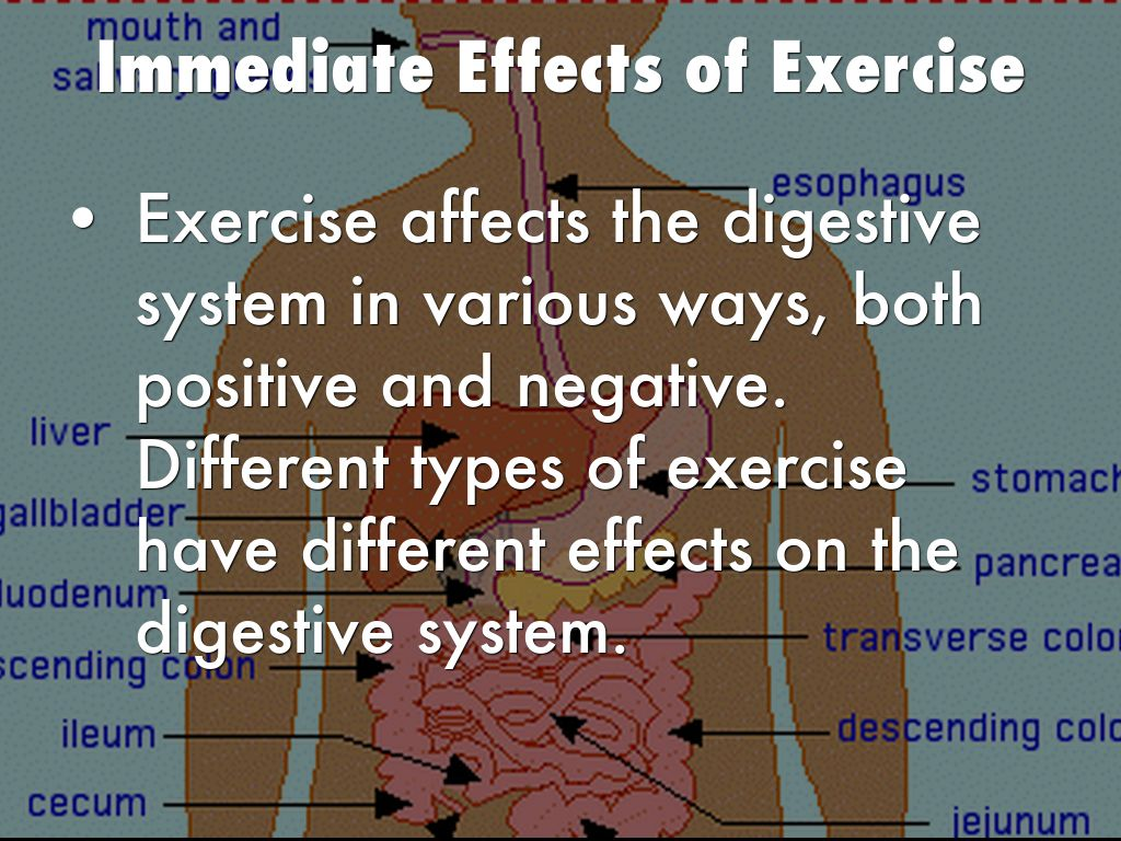 the effects of exercise in the A fact sheet that summarizes evidence linking exercise and  between physical activity and cancer  exercise has a number of biological effects on.