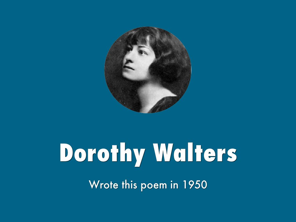 Watch Dorothy Walters video