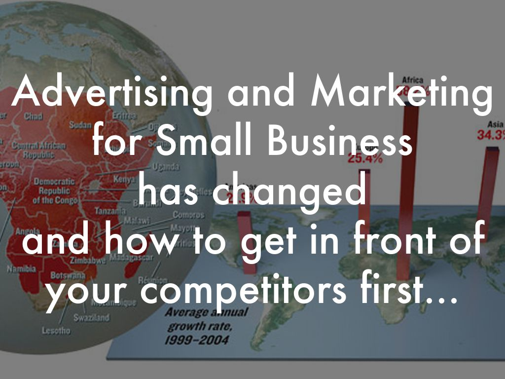 Advertising and Marketing for Small Business has changed and how to get in front of your competitors first...