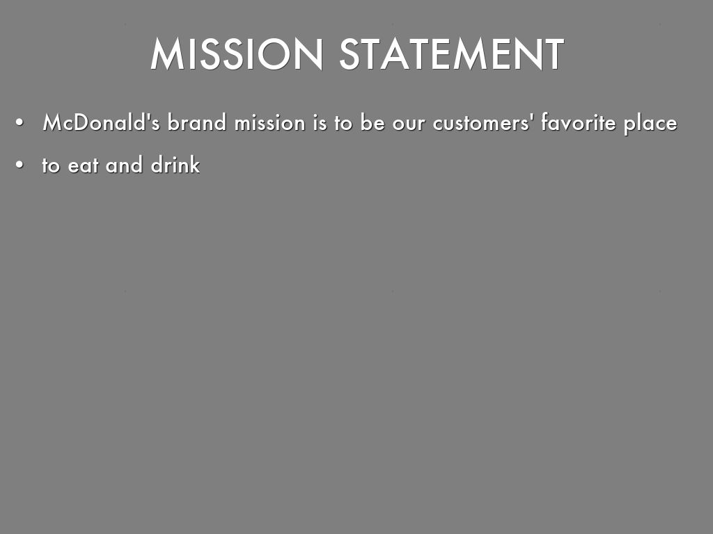 mcdonalds a corporations mission and vision jayceeraealmeida