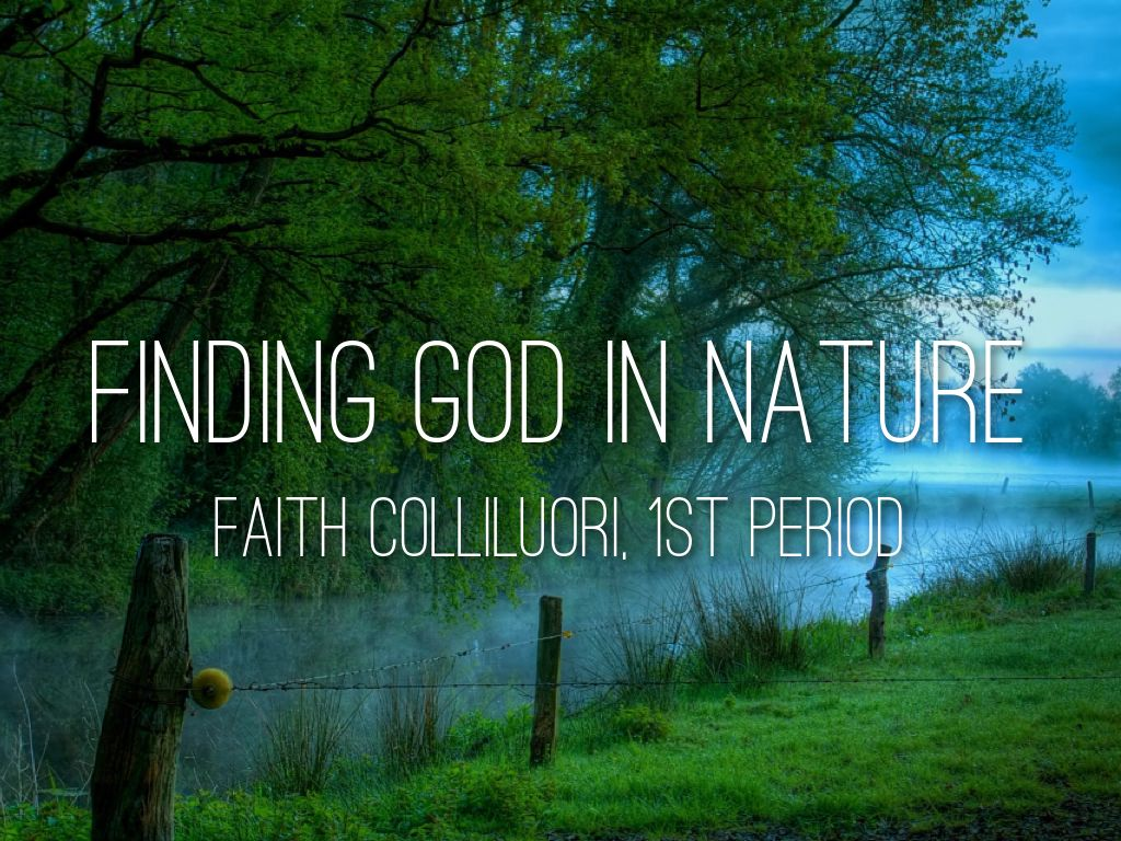 finding god in nature by faith colliluori