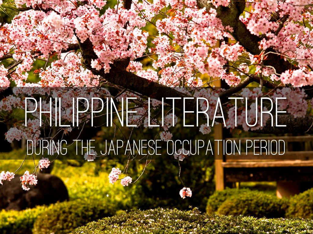 philippine literature during the japanese occupation