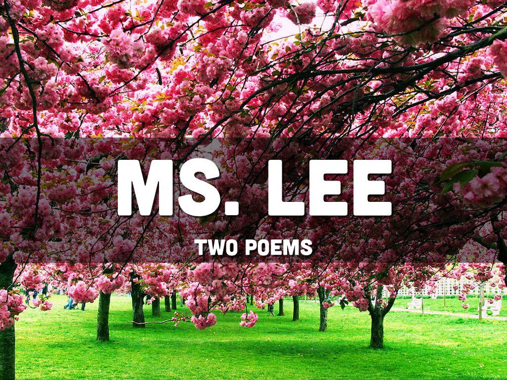 Ms. Lee