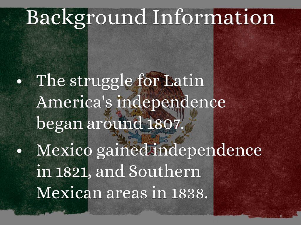 Background information on mexico - Simon Bolivar