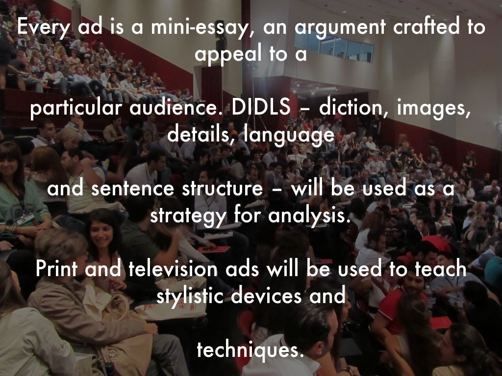 rhetorical analysis of an advertisement essay