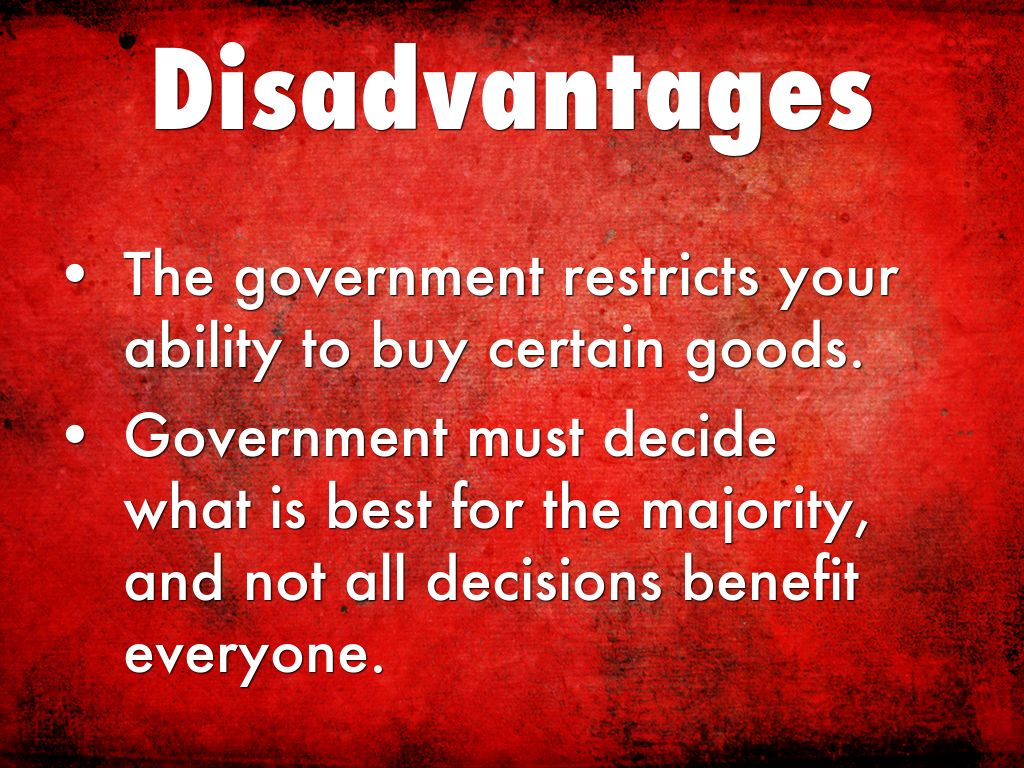 mixed economy advantages and disadvantages
