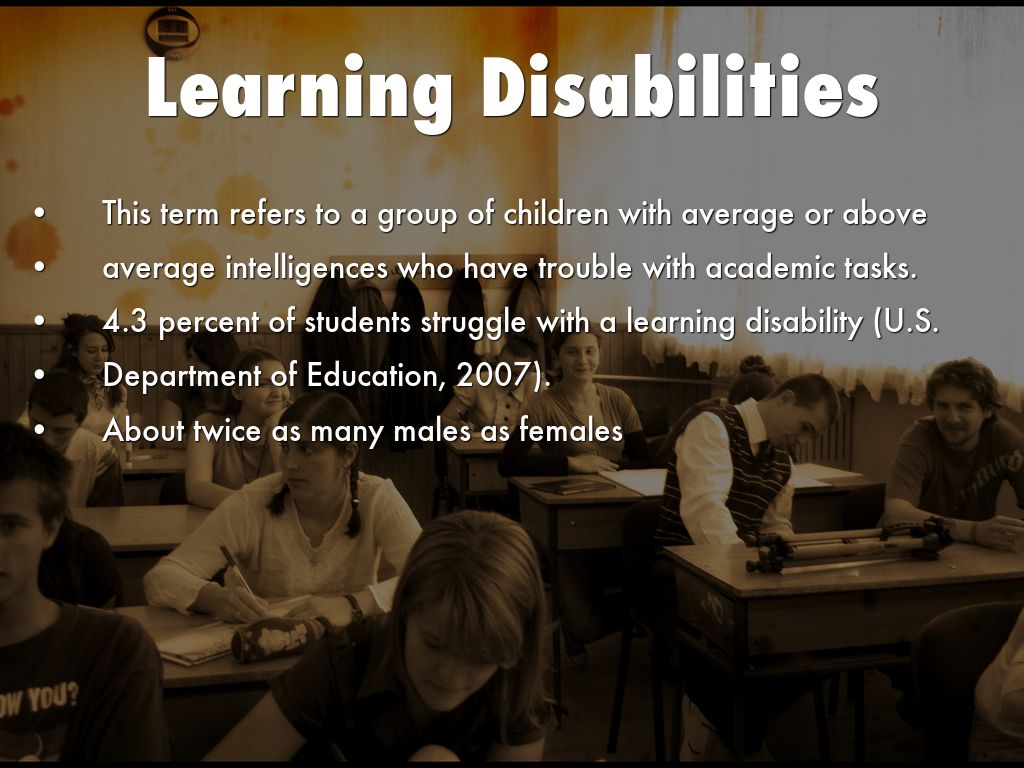 learning disablities Learning-disabilities~the american academy of pediatrics (aap) provides articles for parents with information about learning disabilities.