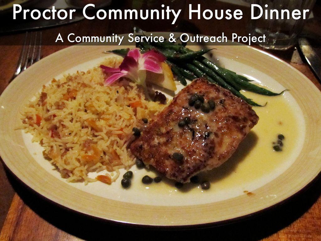 Proctor Community House Dinner