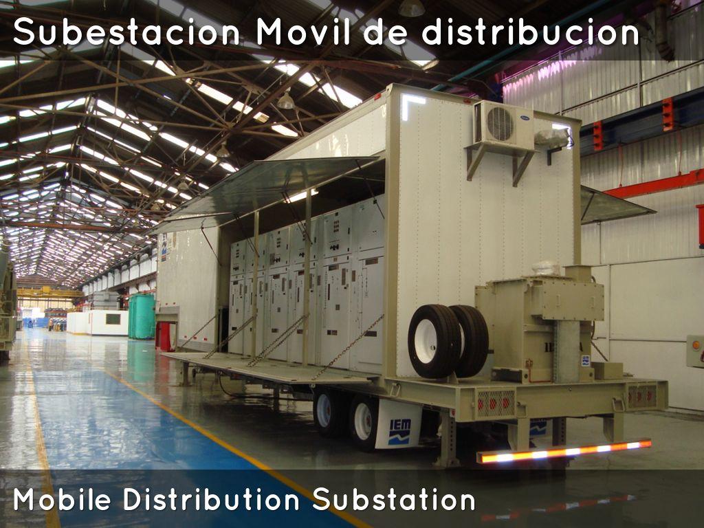Subestacion movil de distribucion mobile distribution for Distribution substation