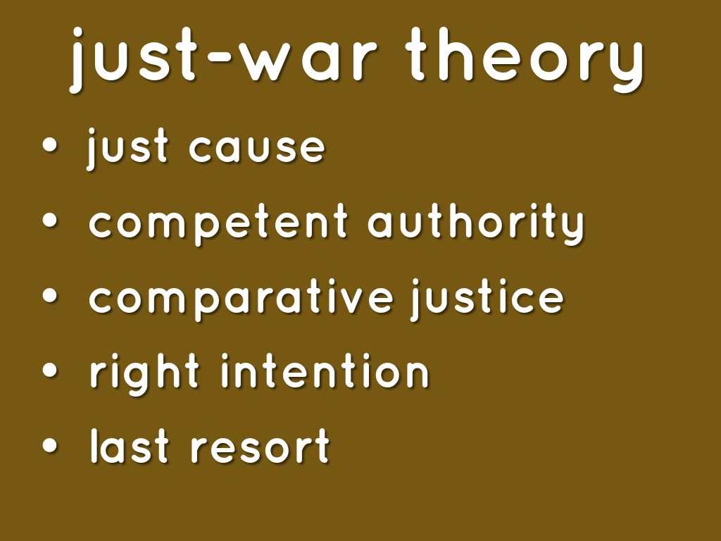 s just war theory compatible with