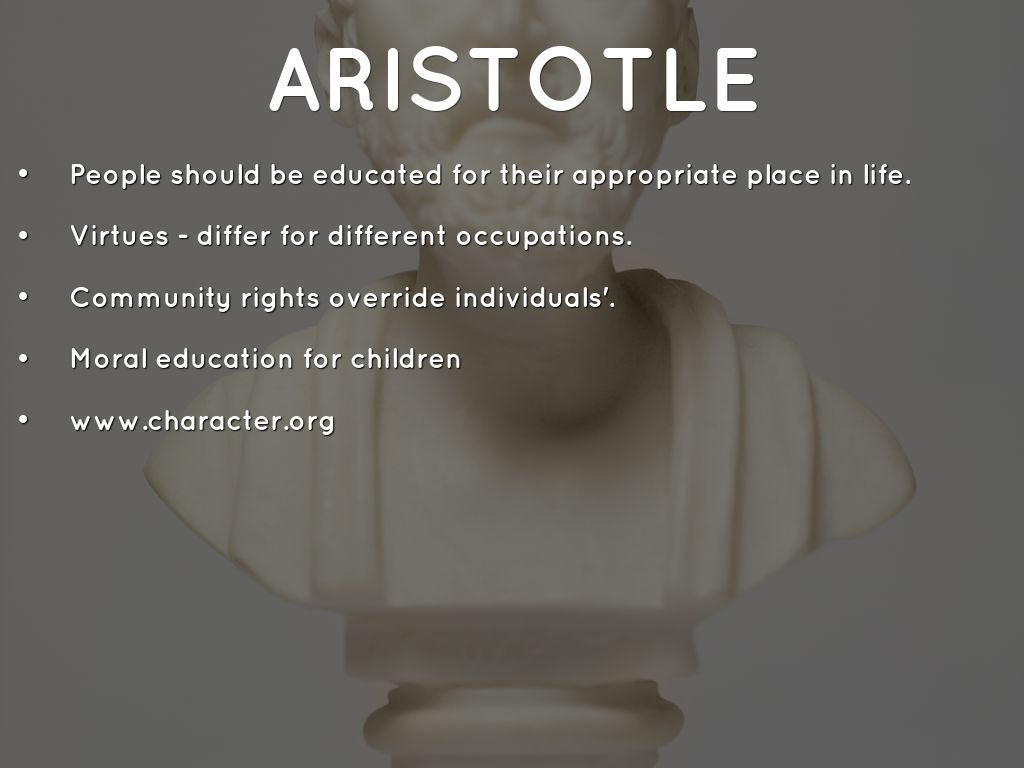 aristotle living virtuous life